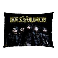 "Hot Black Veil Brides BVB One Side Bedding Pillow Case Cover Size 30"" X 20"" #5"