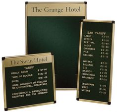 Special Finish Wall Mounted grooved felt Hospitality Boards welcome boards. Special Finish Grooved Felt Welcome Boards range, Hospitality Boards White Light Display