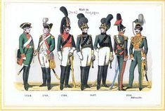 Plate 10: Guard Light Cavalry Sqn, 1759-1815 by Leo Ignaz von Stadlinger - Geschichte des württembergischen Kriegswesens - Uniforms of the troops of Württemberg