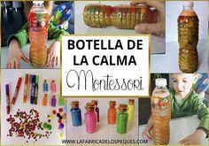 Botella de la calma Montessori Baby Diy Projects, Projects For Kids, Montessori Activities, Learning Activities, Science Projects, School Projects, Yoga For Kids, Art For Kids, Baby Sensory