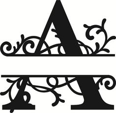 Flourished Split Monogram A Letter – Amee House