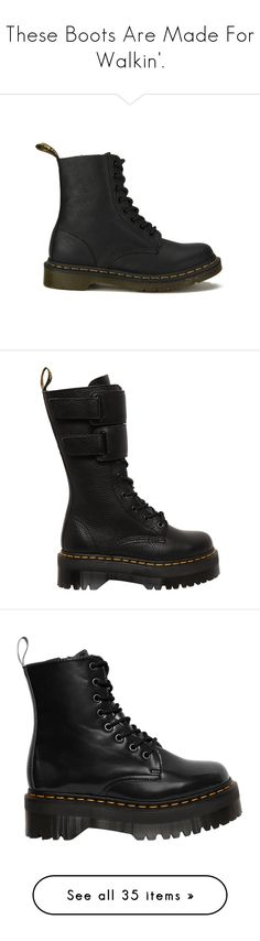 """""""These Boots Are Made For Walkin'."""" by blxckbird ❤ liked on Polyvore featuring Heels, Boots, sandals, shoes, boots, ankle booties, black, black leather boots, short black boots and short boots"""