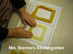 Play Dough Shape mats for math center