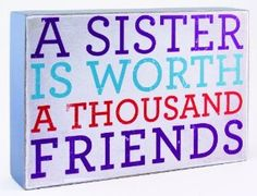 Amazon.com - About Face Designs Wooden Wall Décor Plaque, 3.75 by 5.75-Inch, A Sister is Worth a Thousand Friends