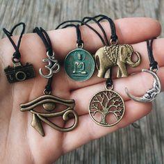 Bohemian Charm Necklaces on Black Adjustable от SavannahAvril