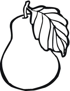 Free Print out pear fruit coloring pages for kids. printable online pear fruit coloring pages activities worksheets for preschool Vegetable Coloring Pages, Fruit Coloring Pages, Coloring Pages To Print, Colouring Pages, Printable Coloring Pages, Free Coloring, Coloring Pages For Kids, Coloring Sheets, Coloring Books