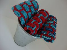 Hand Knit  Dish Cloth Set  100 Cotton   Set of 3 by HippySticks, $18.00
