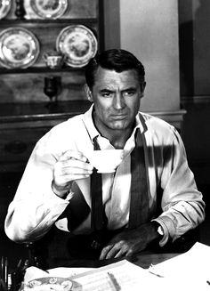 Cary Grant having tea