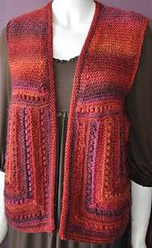 Ravelry: Mitered Vest in MochiPlus pattern by Gail Tanquary & Susan Druding