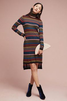 3387300f6a Slide View  1  Striped Turtleneck Dress Anthropology Ok Instead of a  neutral Cashmere A