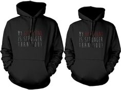 Matching hoodie sweatshirts for newlyweds - Strong Couple Hoodie by 365 in love