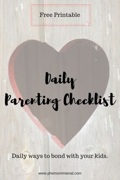 "Everyday my kids have chores they need to do and lately I have been thinking about daily chores I should be doing. No, it's not cleaning or making dinner…it's parenting chores! Keep reading to find out what I am talking about. Parents have a million things to do everyday and sometimes we may forget to … Continue reading ""Daily Parenting Freebie Checklist"""