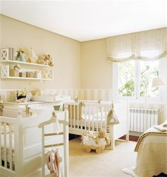 LOVE- especially the window shade and half painted/striped walls