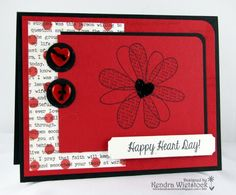 By: Kendra Wietstock; Gourmet Rubber Stamps ~ Happy Heart Day & Polka Dot Cookie Cutter Stencil