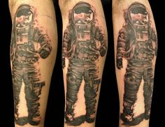 Astronaut Tattoo! Done by Luke LoPorto @ timmy tattoo in Huntington, NY. : pikdit