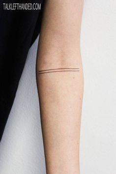 minimalist arm tattoo