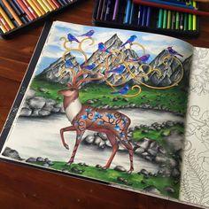 Johanna Basford Deer Colored By Sam Mac