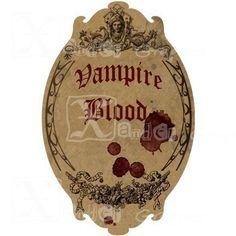 Haunted Halloween Spooky Bottle Labels  85 x 11 by XanderGraphics