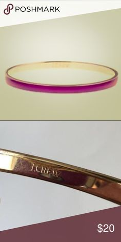 Pink J. Crew Bangle Pink/magenta and gold skinny bangle. Worn once. (Only pink available!!) J. Crew Jewelry Bracelets