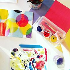 Those primary colors are like little bits of magic, aren't they? We just love this open-ended approach to exploring colors and sparking the imagination with one of the best books about color for young children out there, Press Here by Herve Tullet.