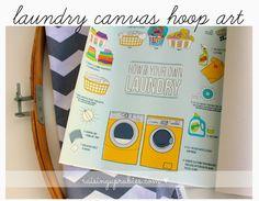 laundry canvas hoop art... ♥