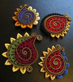 A few new Paisley brooches! by woolly  fabulous, via Flickr