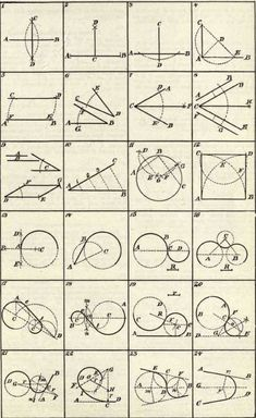 "spring-of-mathematics: "" Geometrical Constructions [part - [part - [part I think ""Geometrical Constructions"" is a handy reference about geometry. In figure Draw a circle that will tangent. Fractal Geometry, Geometry Art, Sacred Geometry, Euclid Geometry, Circle Geometry, Geometric Designs, Geometric Shapes, Geometric Circle, Geometry Constructions"
