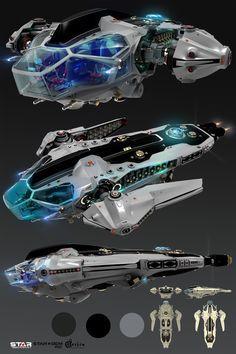 ArtStation - Concept Spaceship for Game, Oshanin Dmitriy