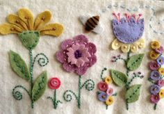 ♒ Enchanting Embroidery ♒ embroidered felt flowers