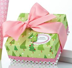 Pink Holiday Box by Leslie Webster