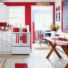 Coastal Colors Red White Blue
