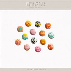 NEW! Happy Place Flairs by Digital Design Essentials