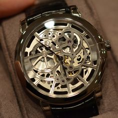 Harry Winston Midnight Skeleton. Who cares if its a mens watch. i'd wear it!