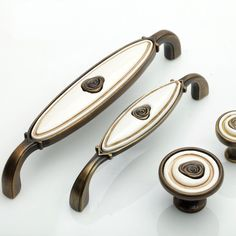 BOJI 2Pcs Antique Bronze Furniture Handles Door Cabinet Knob Drawer Wardrobe Pull Handle Vintage Jewelry Wood Box Handle 3115mm