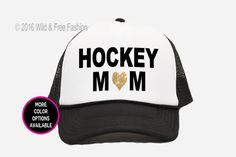 868dbe03df8 Hockey Mom Trucker Hat with heart