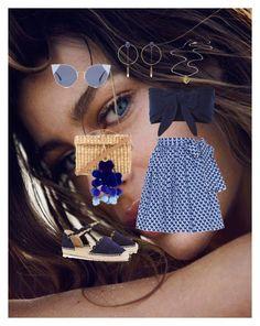 """Shades of blue"" by luisa6 on Polyvore featuring moda, Solid & Striped, Miu Miu, Castañer, Nannacay, Isabel Marant y Fendi"