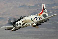 (# AH-500) Douglas A-1H Skyraider (Bu 139606) (NX39606) Built 1955 - Owned by Bob Grondzik - Camarillo Airport, Camarillo, California - 29 Aug, 2005 (4)