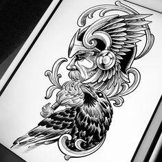 No hay ninguna descripción de la foto disponible. Tatto Viking, Norse Tattoo, Tattoo On, Tiger Tattoo, Viking Tattoos, God Tattoos, Body Art Tattoos, Tatoos, Tatto For Men