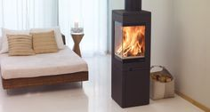 Fireplace Products a premium UK outlet of stoves, fires, fireplaces and chimney liners. Offering more wood burning stoves than anyone else with. Corner Stove, Little House Living, Wood Pellet Stoves, Barn Bedrooms, New Stove, Multi Fuel Stove, Concrete Wood, Into The Woods, Stove Fireplace