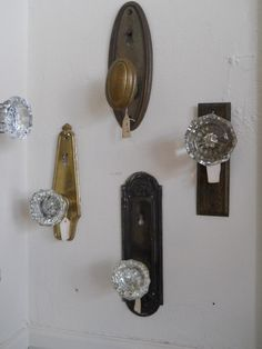 knobs for coat hooks | Upcycled Vintage Door Knob Coat Hook Hanger by SavannahHopeVintage