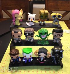One of your most requested tutorials last week was for more POP figure display options, and I feel your pain, guys. I don& even consider m. Funko Pop Shelves, Funko Pop Display, Craft Shelves, Display Shelves, Display Ideas, Quick Crafts, Crafts To Do, Dyi, Nerd Room