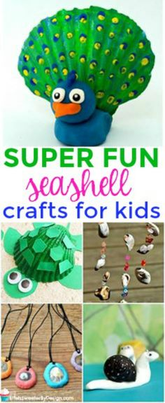 Easy seashell crafts for kids that are so fun to make. Great way to use leftover shells from your beach vacation. These fun shell crafts will keep your kids busy this summer.