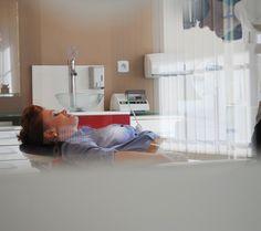 Kamila Jastrzębska a stylist and makeup artist taking a rest on a dental chair:)