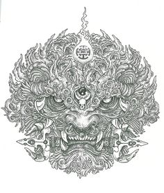 Chinese Lion by Subliquida Project, via Behance Body Art Tattoos, Tattoo Drawings, Sleeve Tattoos, Foo Dog Tattoo Design, Tattoo Designs, Raijin Tattoo, Tattoo Oriental, Image Swag, Fu Dog