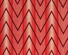 Roller-printed cotton cloth (lining of a boy's silk brocade robe).  Russia, early 20th c.  Though much earlier, this pattern is evocative of Op Art.
