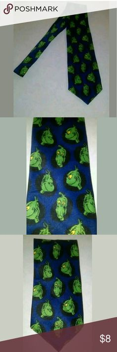 Dr Seuss Grinch Tie Black, blue, and green Grinch tie by Dr Seuss???  EUC?? Dr Seuss Accessories Ties
