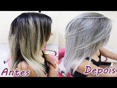 MECHAS PLATINADAS PASSO A PASSO by Aline Rosa - YouTube