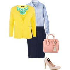 A navy pencil skirt will never let you down. Wear it to the office, brunch, or even to meet the parents!