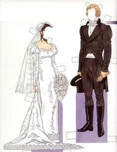 """Bride & Groom 1800s*1500 free paper dolls at Arielle Gabriel""""s The International Paper Doll Society and free Chinese Japanese paper dolls at The China Adventures of Arielle Gabriel *"""