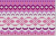 This is a pattern for a knit sweater - maybe this could be repurposed into a peyote/bead weaving pattern? Or if I simplified it, and used extruded squares of polymer clay, could I turn this into a cane? Probably too crazy to actually work